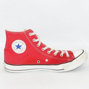 """Converse All Star""""Chuck Taylor""""Red Canvas High Top"""